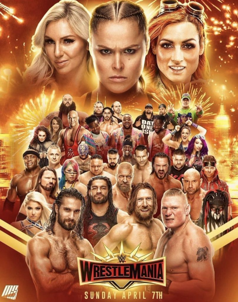 WWE Wrestle Mania 35 Kickoff (2019) English Full Show 350MB HDTVRip 480p x264