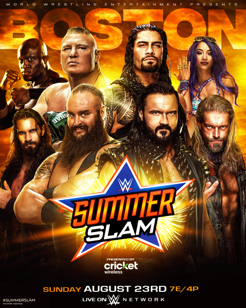 WWE Summerslam (23rd August 2020) English PPV 500MB HDRip 480p Download