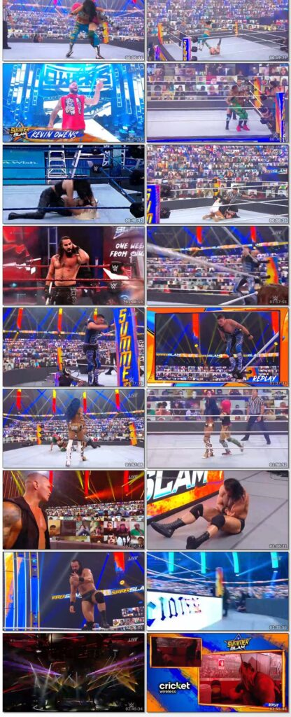 WWE Summerslam (23rd August 2020) English PPV 500MB HDRip 480p Download..